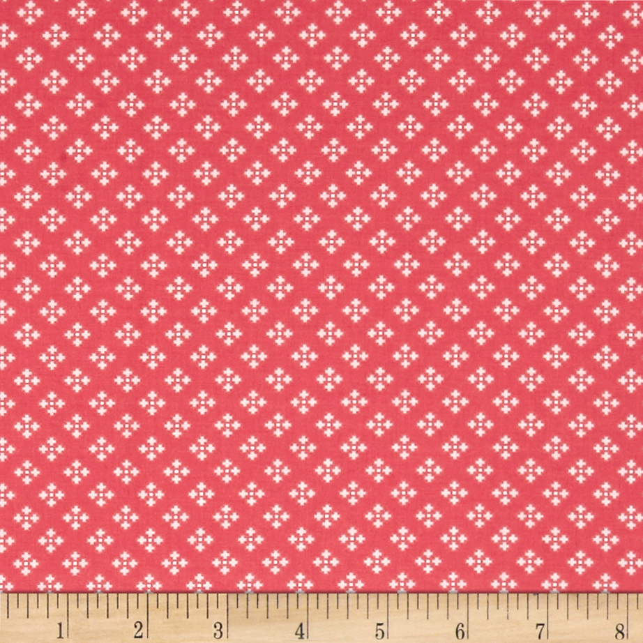 INOpets.com Anything for Pets Parents & Their Pets Contempo Winter Games Dots Red Fabric