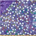 Double Sided Quilted Batik Dots Purple