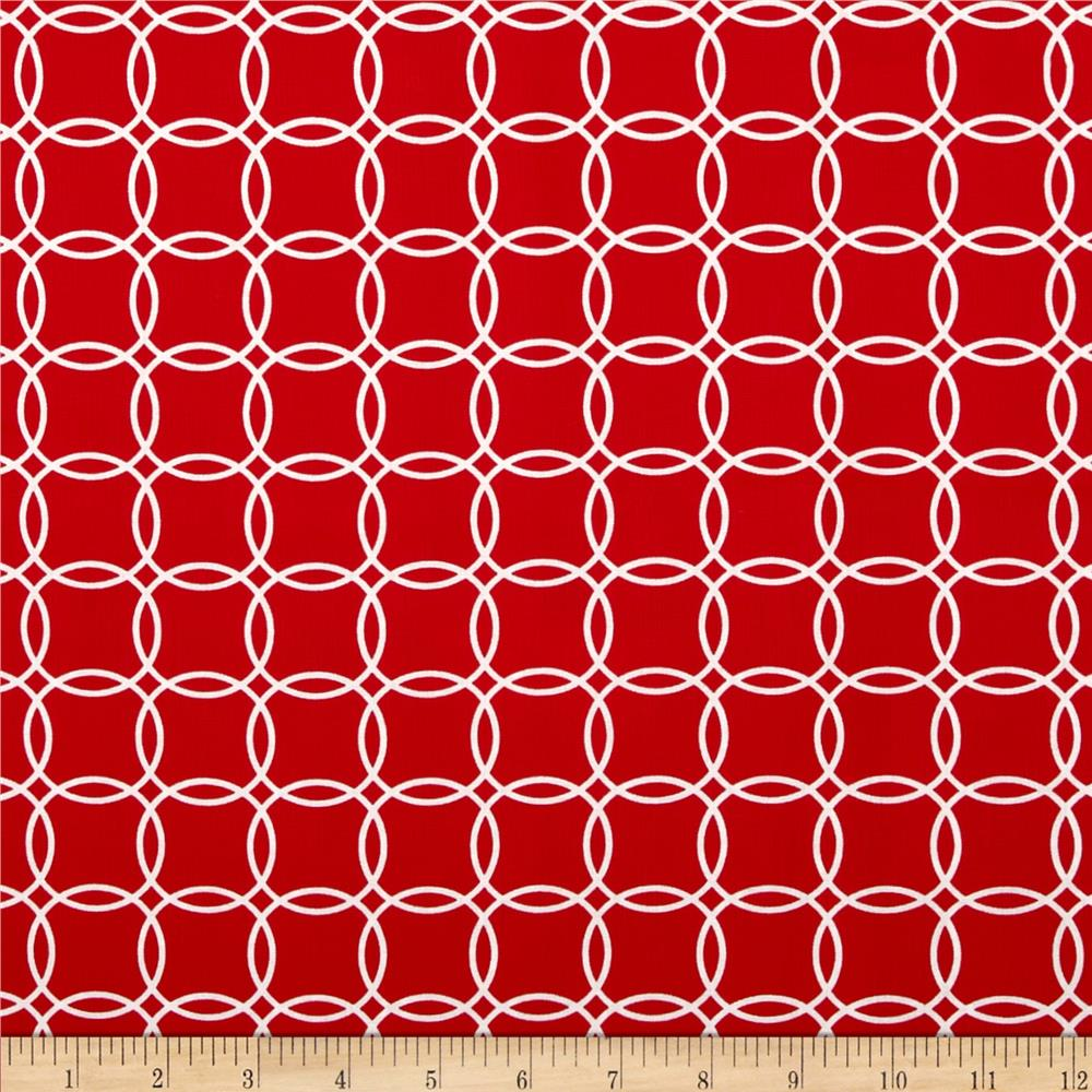 Metro Living Interlocking Circles Red