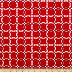 Metro Living Interlocking Circles Red Fabric
