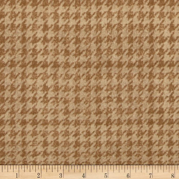Penny Rose Menswear Flannel  Houndstooth Tan Fabric By The Yard