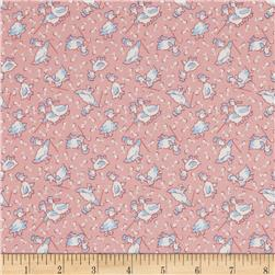 Storybook Playtime Musical Ducks Pink Fabric