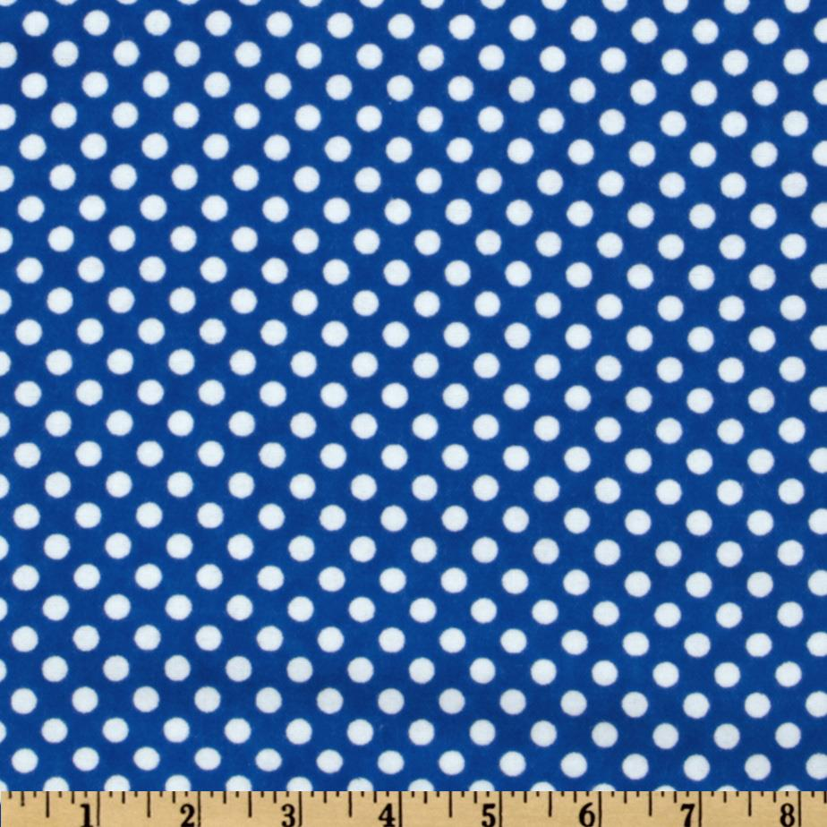 Camelot Flannel Polka Dots Royal Blue