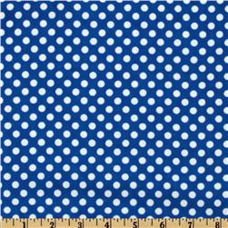 Camelot Flannel Polka Dots Royal Blue Fabric