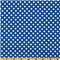 Flannel Polka Dots Royal Blue