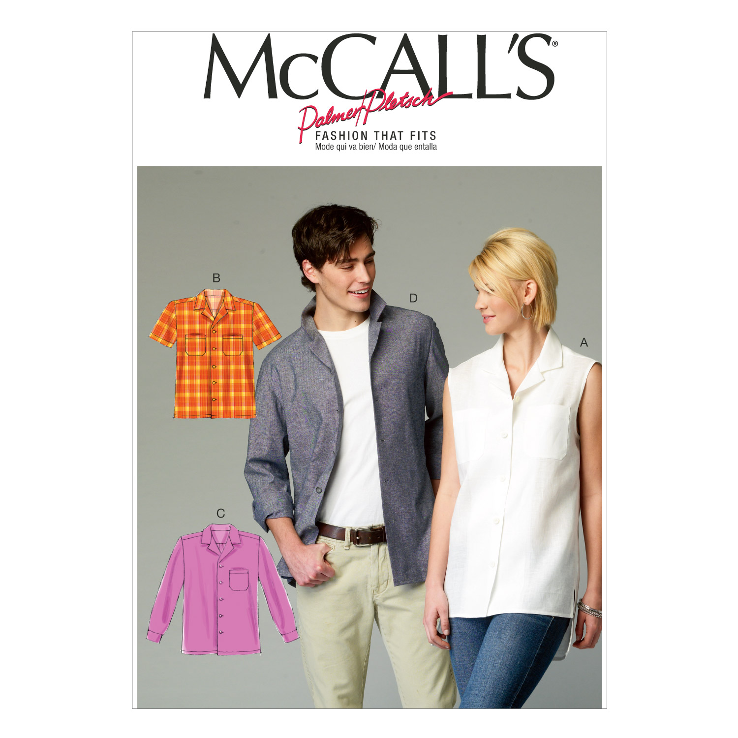 McCall's Misses'/Men's Shirts Pattern M6932 Size XM0 by Kwik Sew in USA