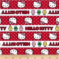 Hello Kitty Holiday Gingerbread Stripe Red/White