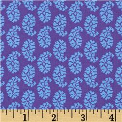 Joyful Leaf Paisley Purple