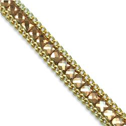 "1/2"" Rhinestone & Glass Chain Banding Bronze"