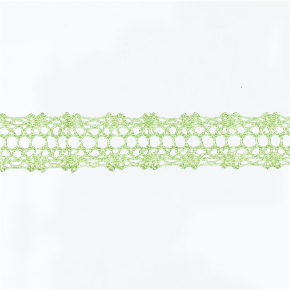 "May Arts 5/8"" Crochet Lace Ribbon Spool Light Celery"
