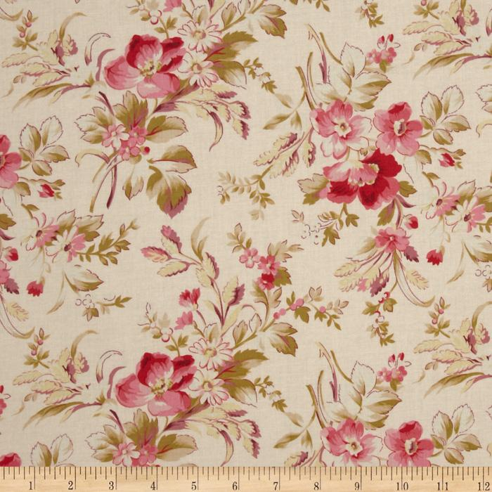 True Vintage Medium Floral Pink/Cream