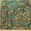 Embroidered Batik Paisley Tea Dye/Taupe