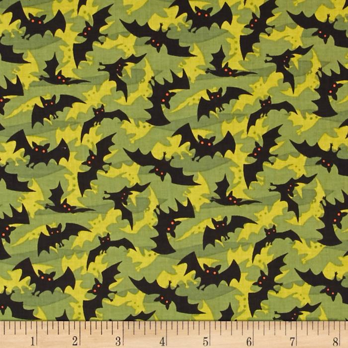 Haunted Hill Small Toss Bats Olive