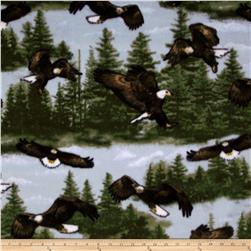 WinterFleece Soaring Eagle Blue