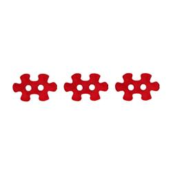 Novelty Button 5/8'' Puzzled Red