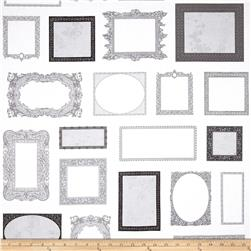 Objects Picture Frames Grey Fabric
