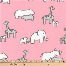 Kaufman Little Safari Flannel Collage Pink