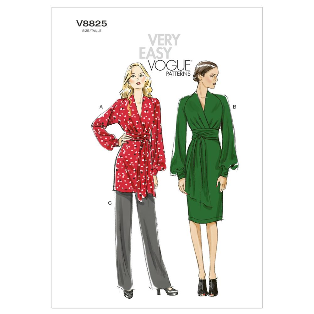 Vogue Misses' Tunic, Dress And Pants Pattern V8825