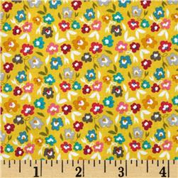Riley Blake Unforgettable Floral Yellow Fabric