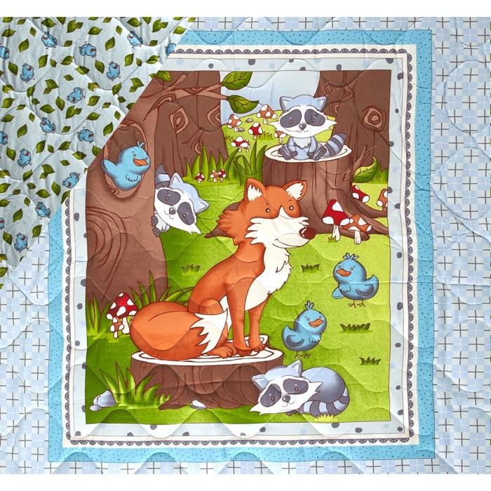 Mr. Fox & Friends Double Sided Quilted Baby 36'' Panel Multi