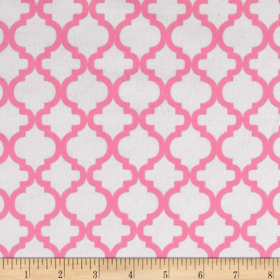Dreamland Flannel Bella White/Pink Carnation