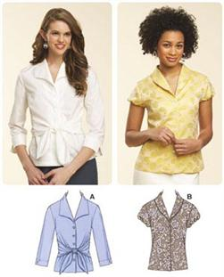 Kwik Sew Misses Fitted Blouses Pattern