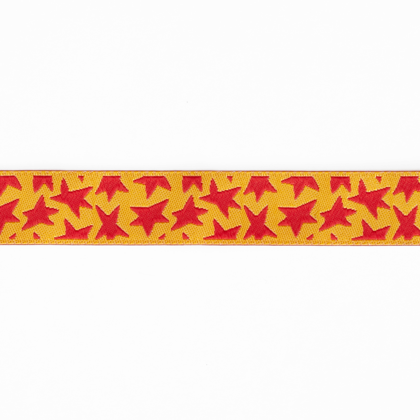 5/8'' Luella Doss Red Stars On Gold Ribbon