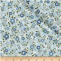 Kaufman La Scala 7 Metallic Small Flower Sky