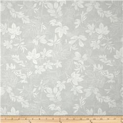 "108"" Wide Quilt Back Modern Leaf Light Grey/White"