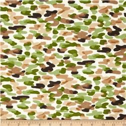 Comfy Flannel Camo Green/Brown Fabric