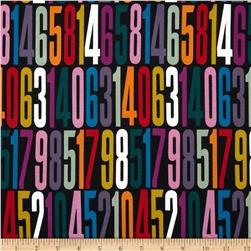 Countdown Numbers Black