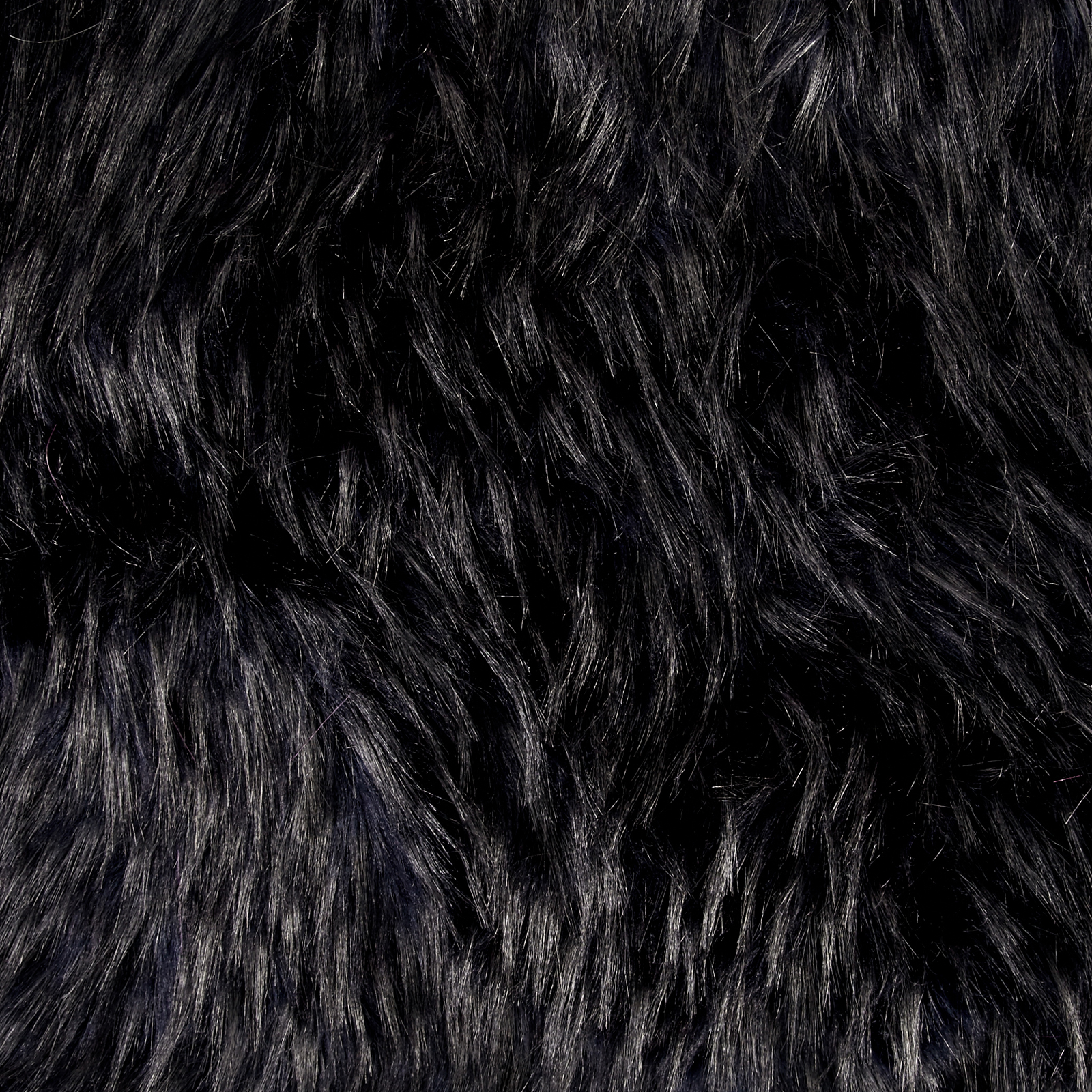 Image of Shannon Luxury Faux Fur Falcon Steel/Indigo Fabric