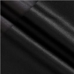 Silk Satin Shantung Black