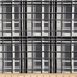 Aspen Creek Metallic Plaid Black/Silver