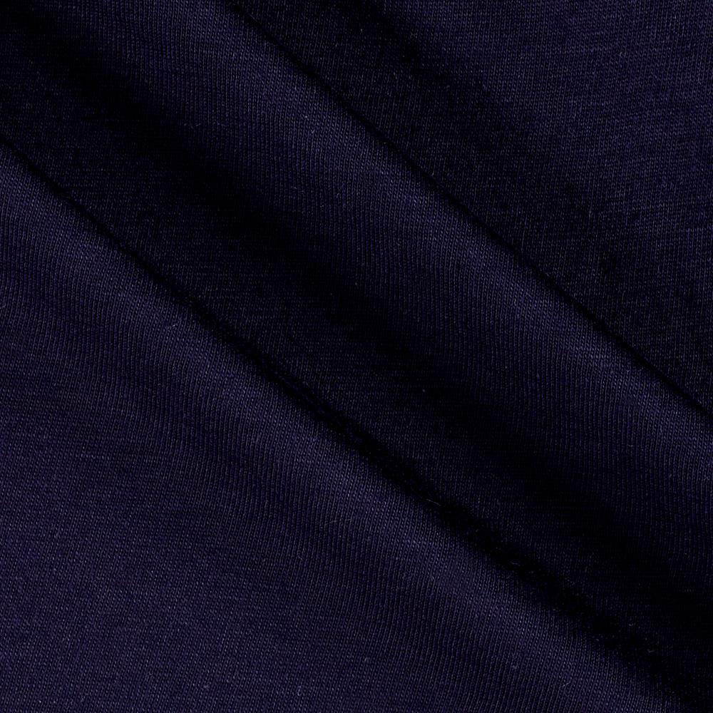 Designer Stretch Rayon Jersey Knit Navy Fabric By The Yard