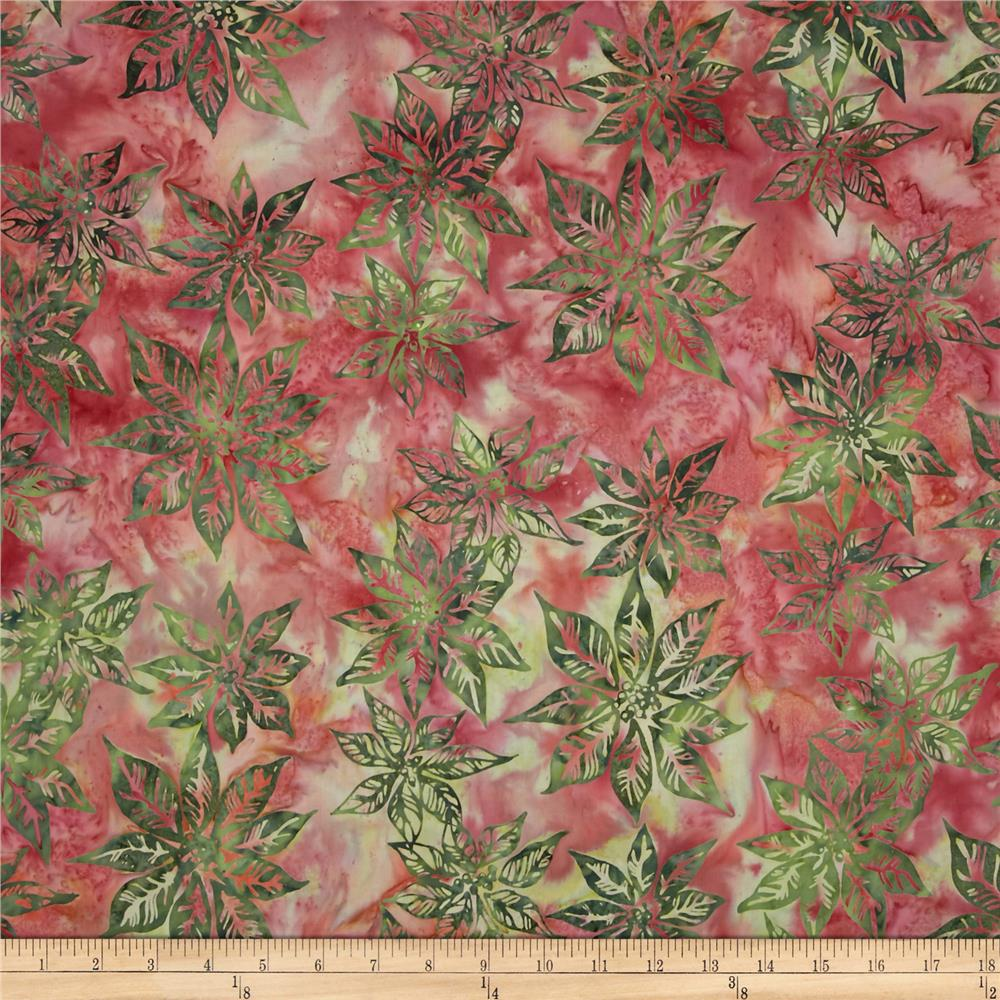 Bali Batiks Handpaints Poinsettias Currant