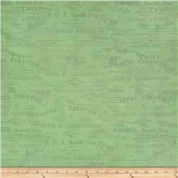 Garden View Stamp Toile Green