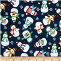 Frosty Snowmen Blue