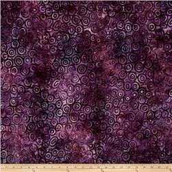 Robert Kaufman Nature's Creation Geo Swirl Plum