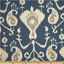 Magnolia Home Fashions Java Ikat Yacht Blue Fabric