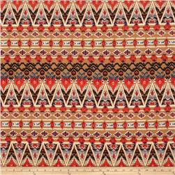 Stretch ITY Jersey Knit Aztec Abstract Brown/Black/Rust