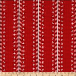 Riley Blake Nutcracker Christmas Stripe Red