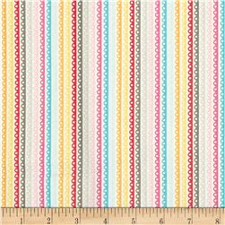 Riley Blake Girl Crazy Stripe Yellow Fabric
