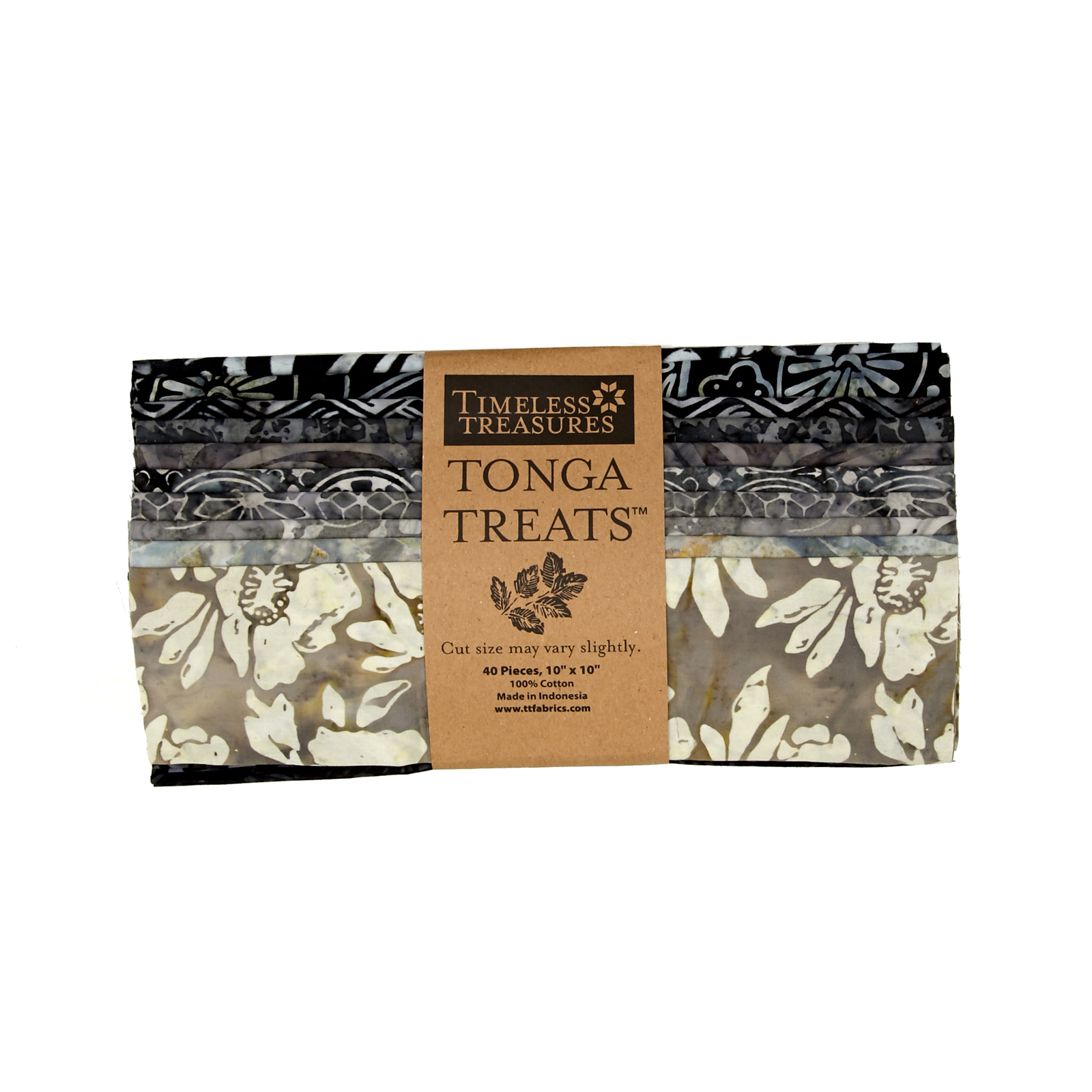 Timeless Treasures Tonga Treat Gotham 10'' Squares by Timeless Treasures in USA