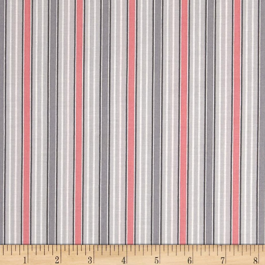 Gracious Skies Stripe Grey/Coral