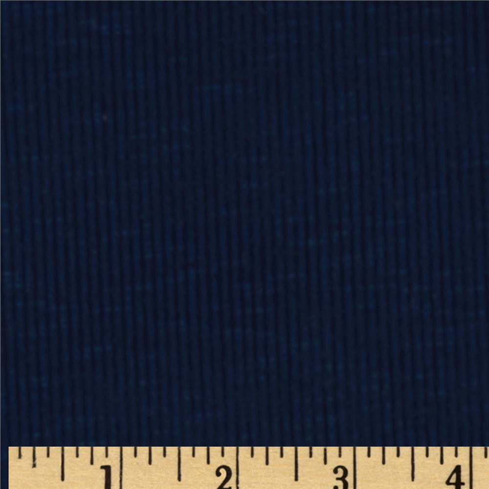 Stretch Slub Rib Knit Navy