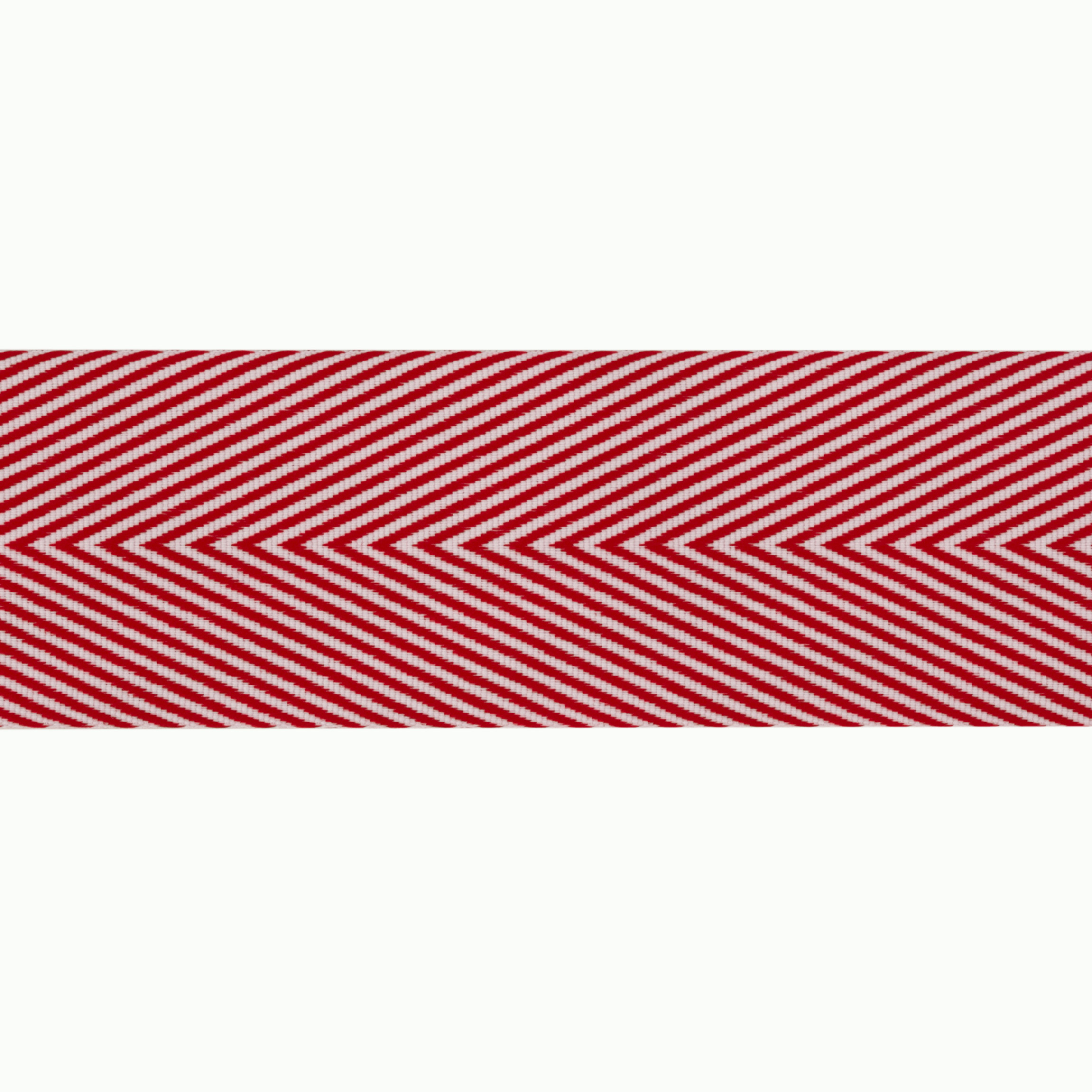 1 1/2'' Twill Tape Chevron Red