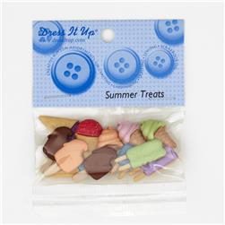 Dress It Up Embellishment Buttons  Summer Treats