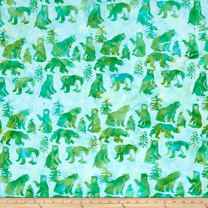Island Batik Bear Light Green/Blue