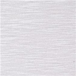 Jersey Cotton Slub Knit Powder White